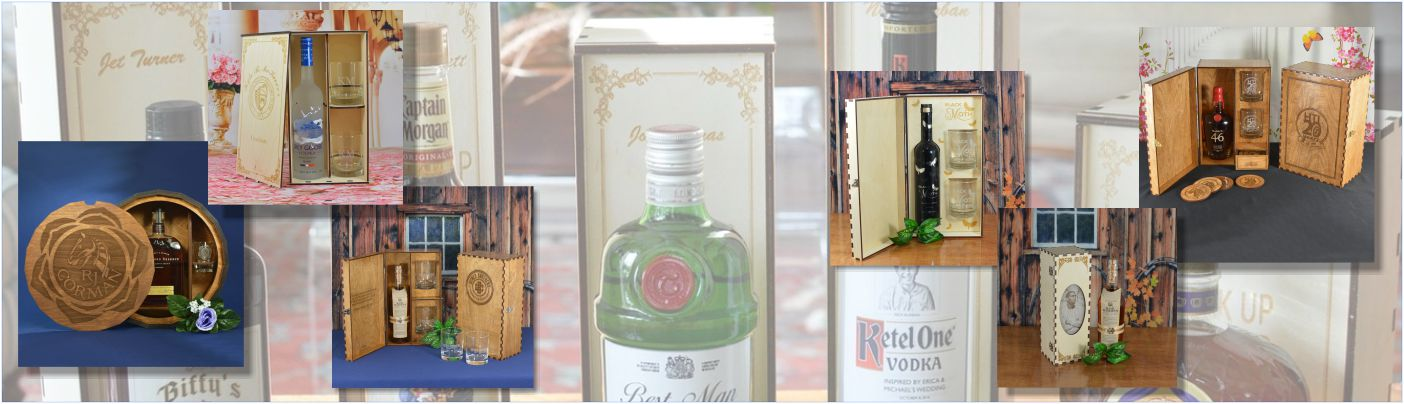 Spirits Gift Boxes and Glassware